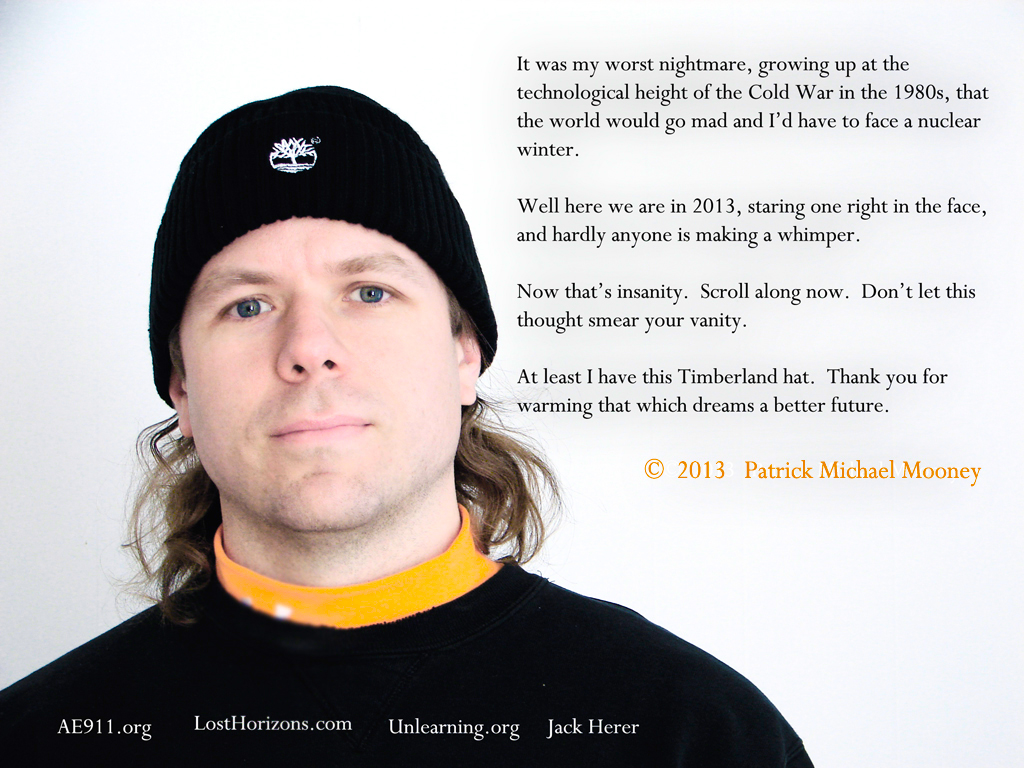 Patrick gives thanks for his Timberland hat.
