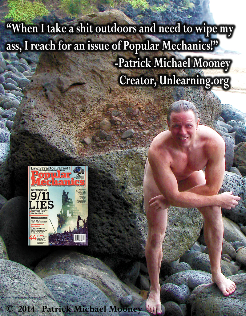 Patrick wipes his ass with Popular Mechanics!